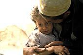 Peshawar, Pakistan, Afghanistan refugee father and kid