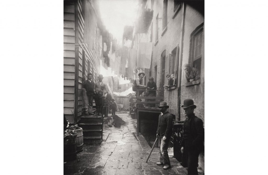 Bandit's Roost, Mulberry Street, 1888. (Jacob A. Riis, Museum of the City of New York)