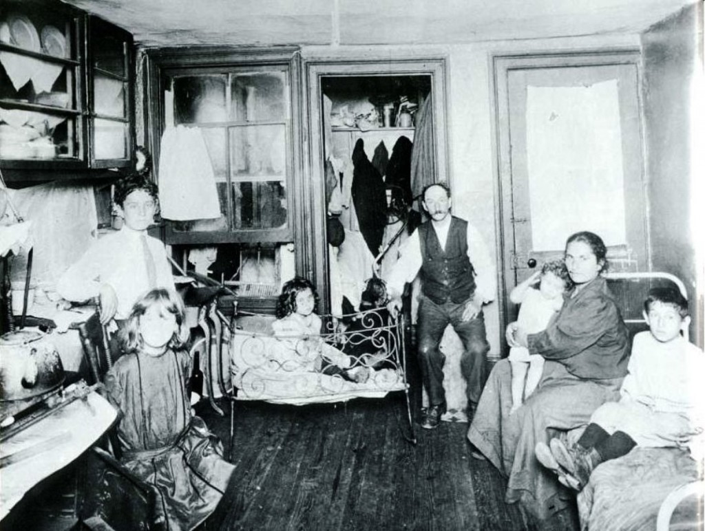 A typical tenement, ca.1890. (Jacob A. Riis, Museum of the City of New York)