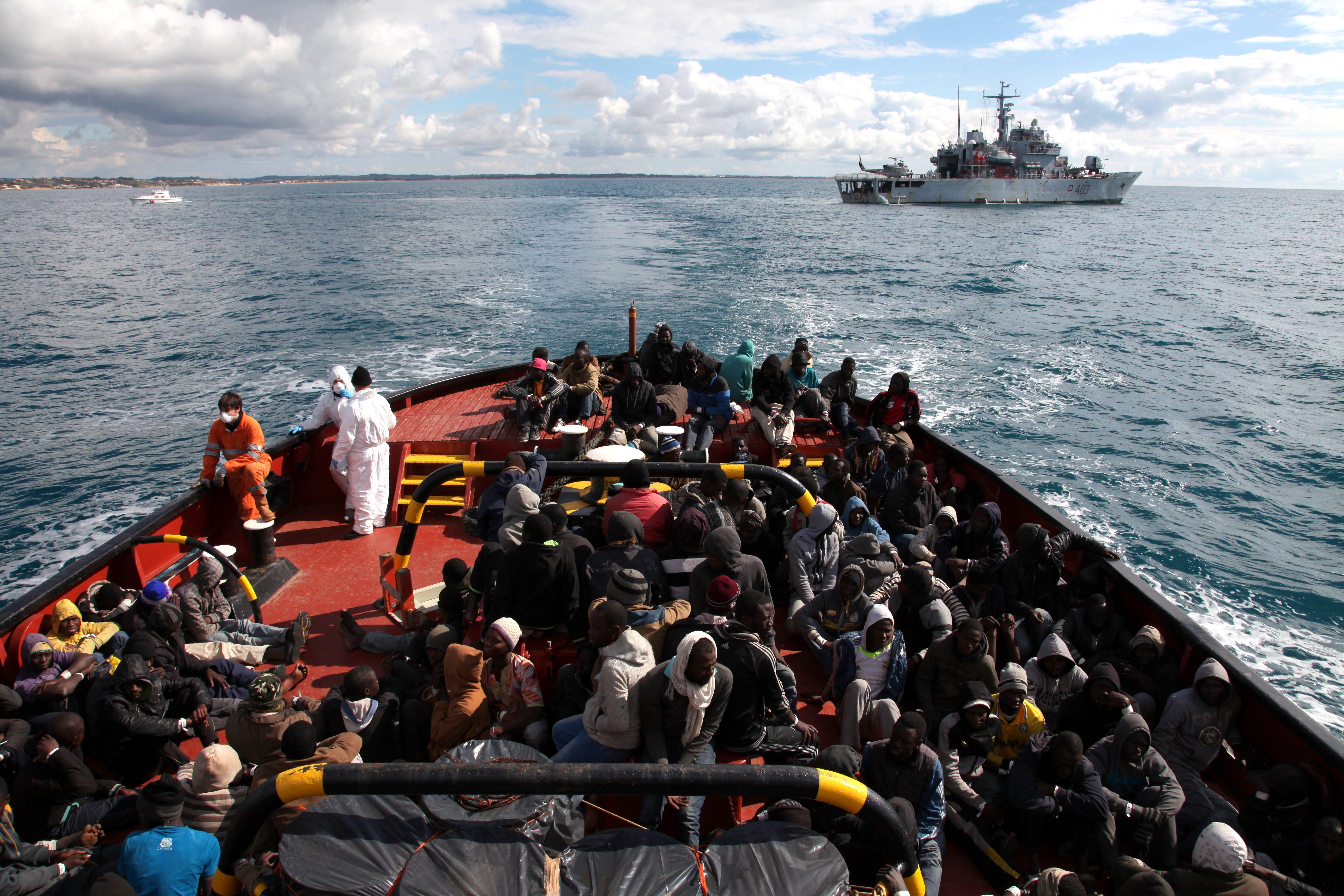 Italy. Rescue at sea