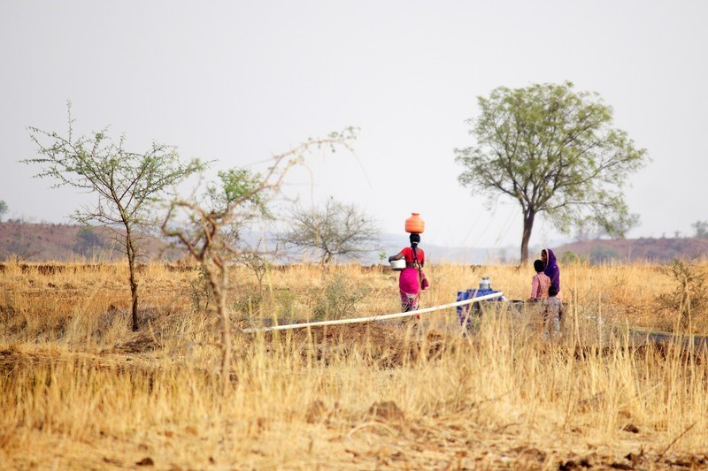 Drought in Maharashtra, Villagers in Beed district have to travel far for collecting water nowadays as the 2015 monsoon provided a paltry 200 mm of rainfall, making it one of the worse affected districts in the drought of 2015-16.