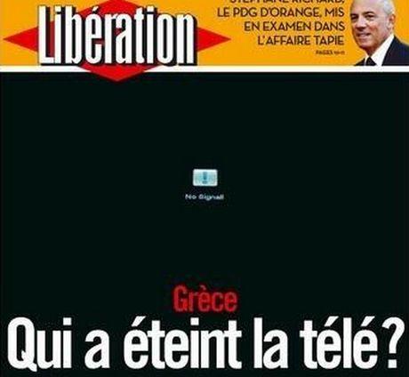 liberation. Ελλάδα, ποιός έσβησε την τηλεόραση;, socialpolicy.gr