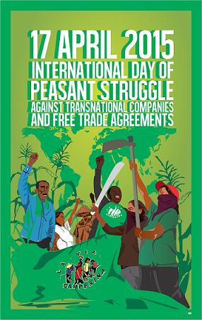 Κινητοποίηση των αγροτών σε όλο τον κόσμο κατά των συμφωνιών ελεύθερου εμπορίου και της κυριαρχίας των τροφίμων