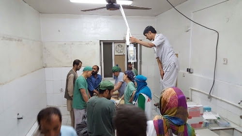 Emergency surgery and medical activities continue in one of the remaining parts of MSF's hospital in Kunduz in the aftermath of the bombing 03 October 2015.