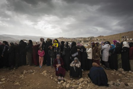 Lebanon/ Syrian refugees/ Just a few days before, over 1,000 families escaped increasing fighting on the Syrian side./ UNHCR/ M. Hofer/ November 2013