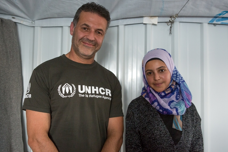 UNHCR Goodwill Ambassador Khaled Hosseini meets Muzoon (16) at Azraq Camp for Syrian Refugees in Jordan. Muzoon is a fierce advocate for education and is affectionately known as the Malala of Syrian refugees. She also met Malala when Malala visited Jordan in 2014 and they have stayed friends. Muzoon traveled to Oslo with Malala to see her receive her Nobel Peace Prize. Muzoon has also written a short profile piece on Malala for Time Magazine's 100 Most influential people of 2015
