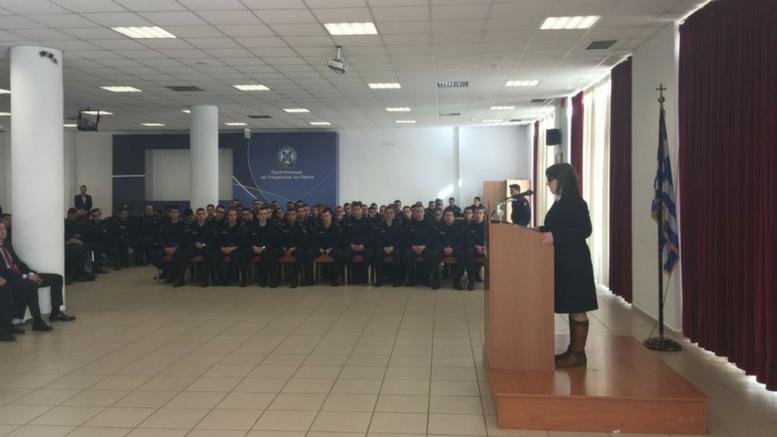 Ομιλία της ευρωβουλευτή του ΣΥΡΙΖΑ Κωνσταντίνας Κούνεβα στην Ακαδημία Αστυνομικών της ΕΛΑΣ