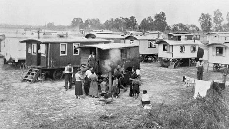 Marzahn, το πρώτο στρατόπεδο εγκλεισμού Ρομά στο Τρίτο  Ράιχ (απροσδιόριστη ημερομηνία).