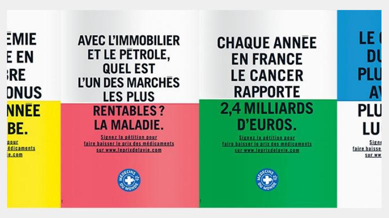 Από την εκστρατεία των Γιατρών του Κόσμου, η τιμή της ζωής, στη Γαλλία.