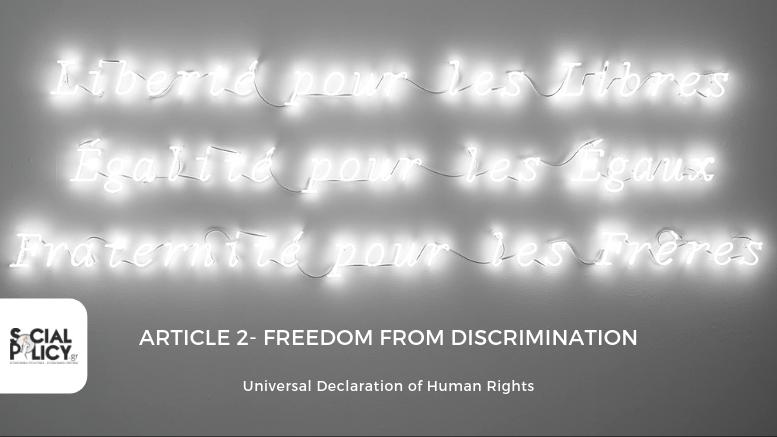 Αδελφοσύνη-Ισότητα-Ελευθερία_Freedom from Discrimination