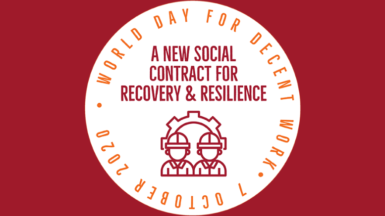 Παγκόσμια Ημέρα για την Αξιοπρεπή Εργασία 2020