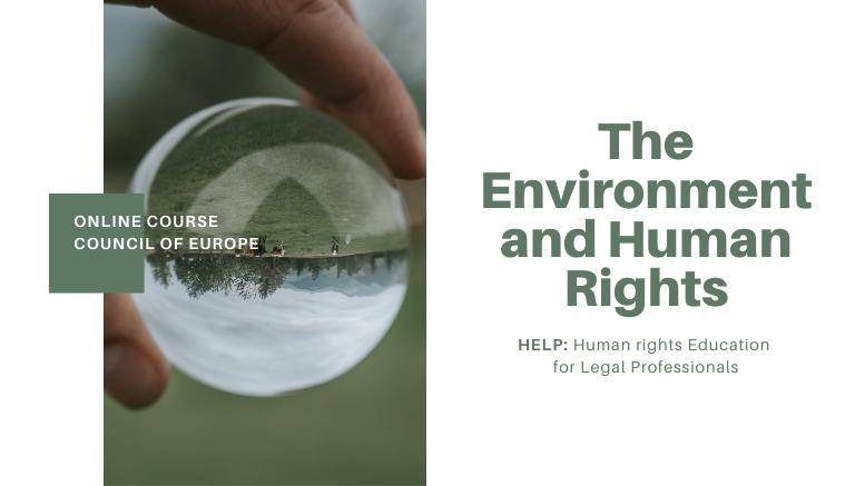 Ανθρώπινα Δικαιώματα-Περιβάλλον-online course