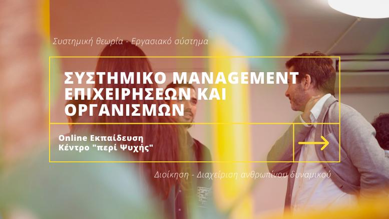 Συστημικο Management Επιχειρησεων και Οργανισμων