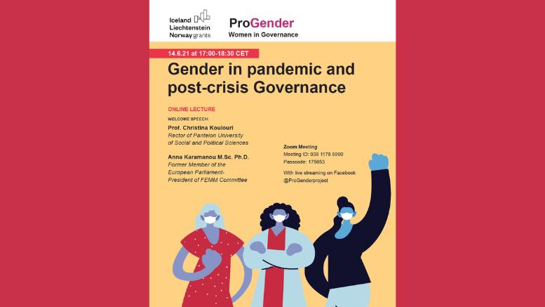 ProGender-Gender in pandemic-post-crisis governance and